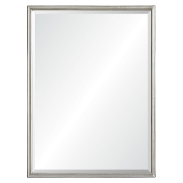 Cosgrove Rectangular Mirror - Antique Silver