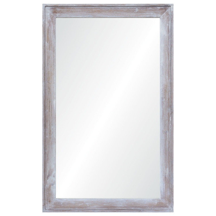 Madison Rectangular Mirror - Wood Finish