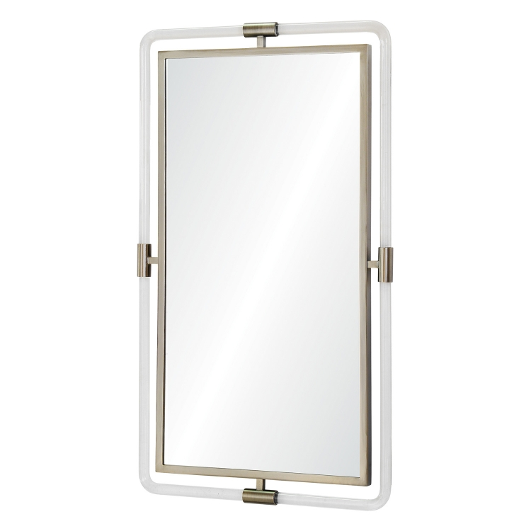 Simms Rectangular Mirror - Antique Brass