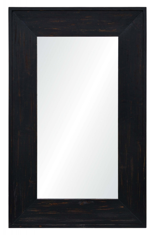 Ellie Rectangular Mirror - Rustic Black