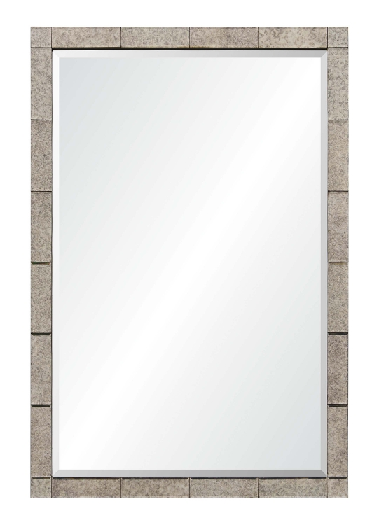 Adevon Rectangular Mirror - Antique Silver