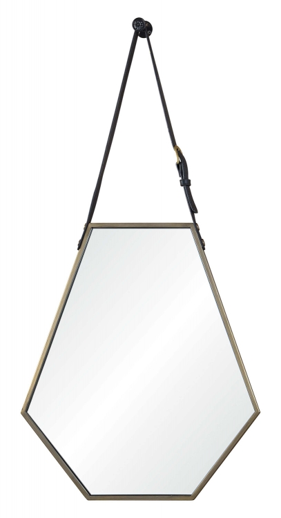 Koda Hexagon Mirror - Medium Bronze Painted