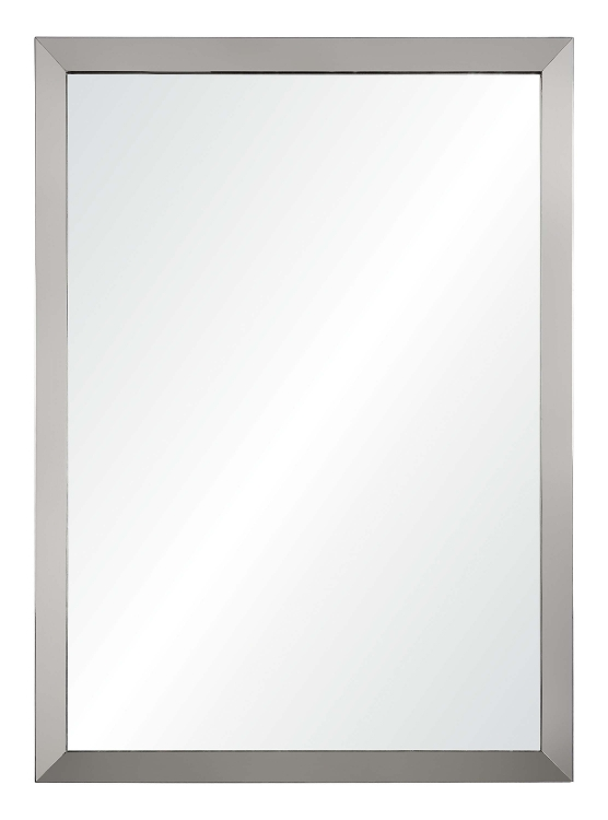 Maverick Rectangular Mirror - Satin Nickel Plated