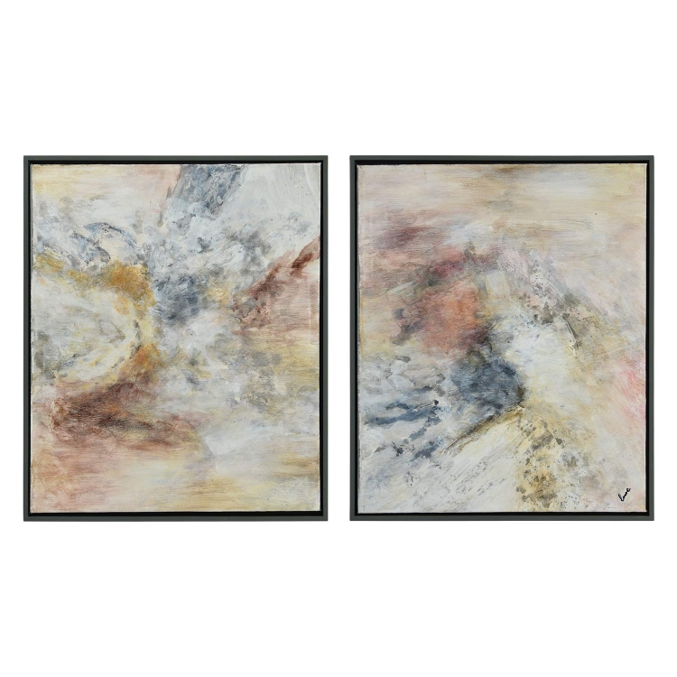 Astrid Canvas Painting - Grey
