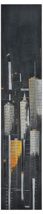 Midnight City II Canvas Painting - Ren-Wil