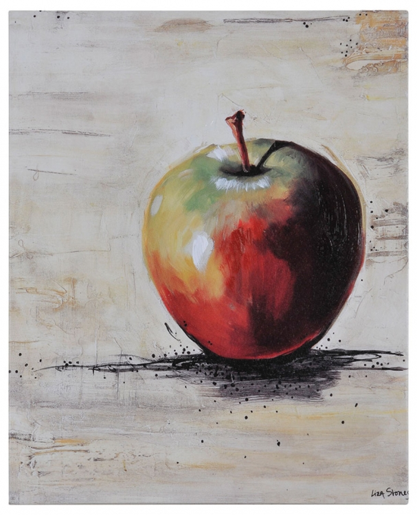 Apple Slice Canvas Painting - Ren-Wil