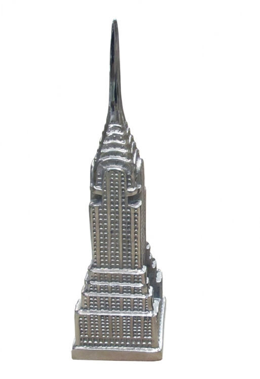 Chrysler Building Statue - Satin nickel