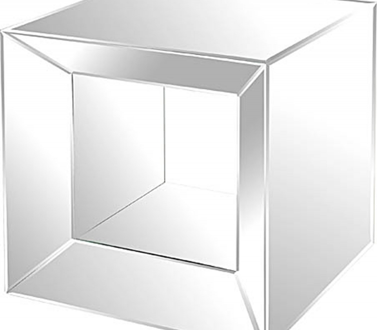 Mirrored Accent Table - Glass