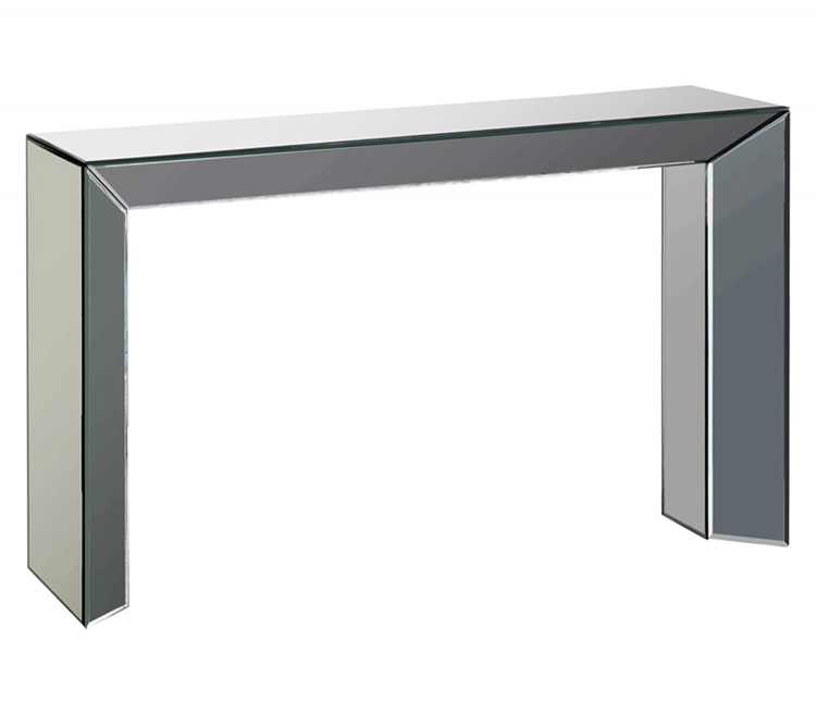 Hannah Mirror Console Accent Table - Glass