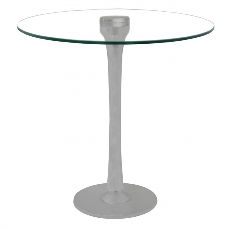 Bennett Accent Table - Matt Aluminum