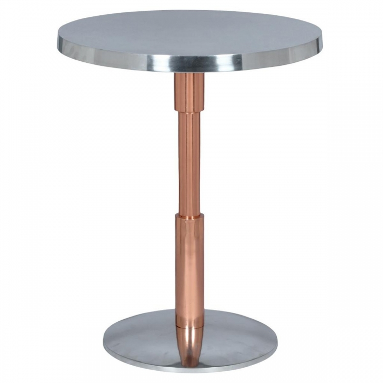 Kristof Accent Table - Shiny Polished