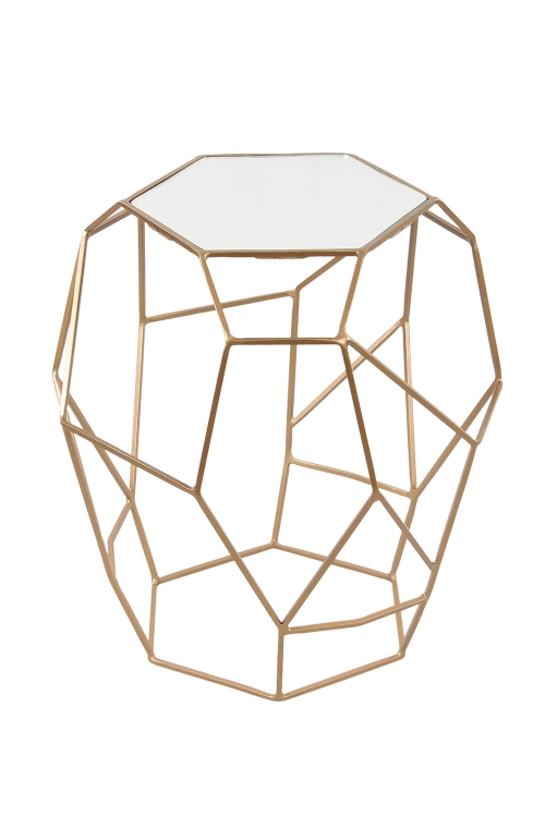 Veil Accent Table - Gold