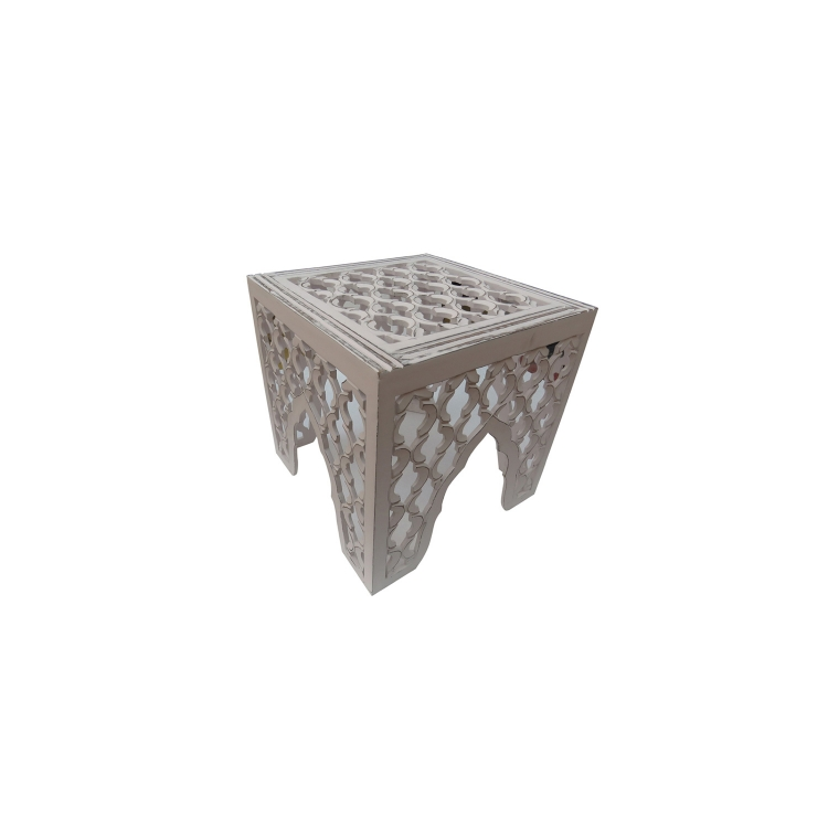 Frost Accent Table - Distress White