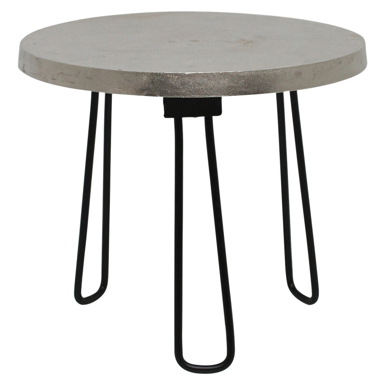 Medina II Accent table - Nickel/Black