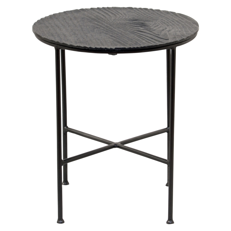 Reynolds Accent table - Black Matt/Grey