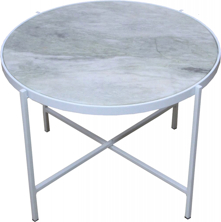 Carlsbad Side Table - White Powdercoat