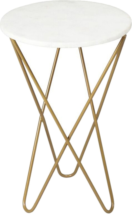 Cinda Accent Table - Gold Powdercoated