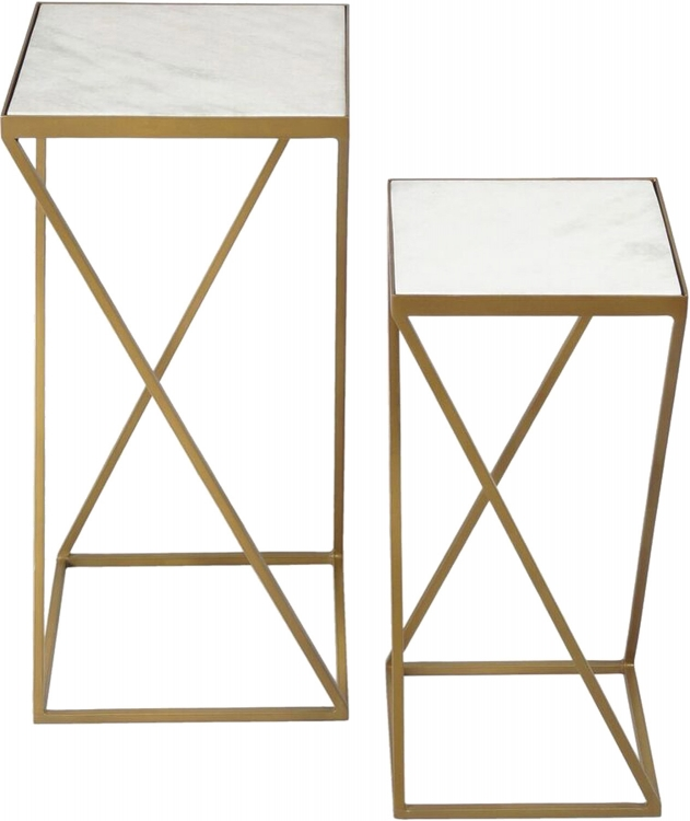 Darby Accent Table - Gold Powdercoated