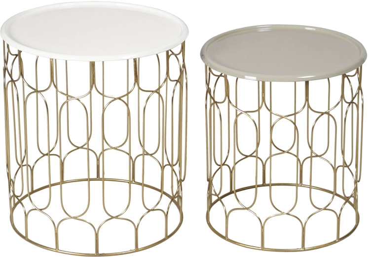 Britt Accent Table - Brass/Enamel