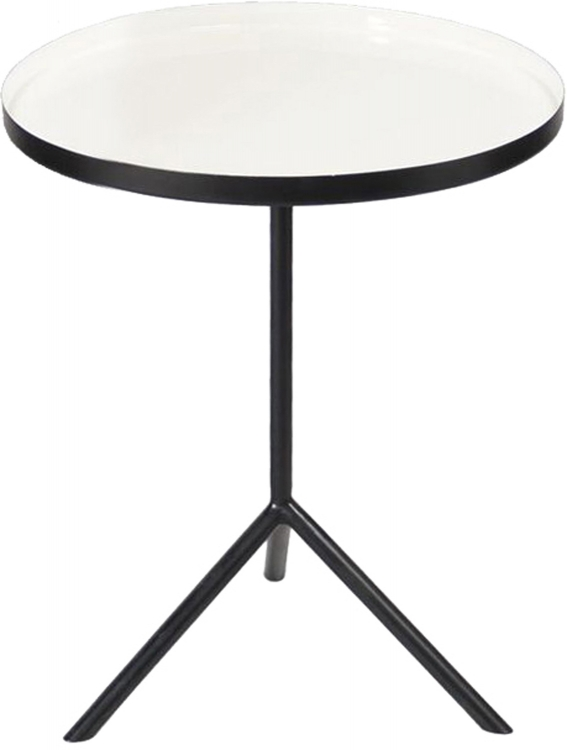 Chana Accent Table - Black/Enamel