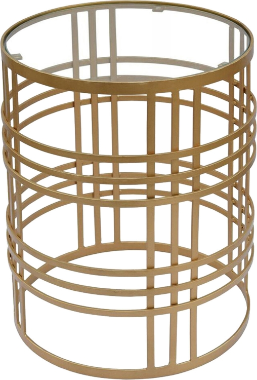 Darvin Accent Table - Brass