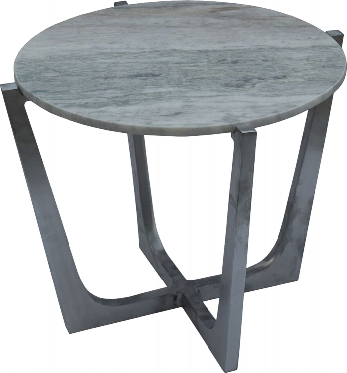 Dayton Accent Table - Brushed Chrome