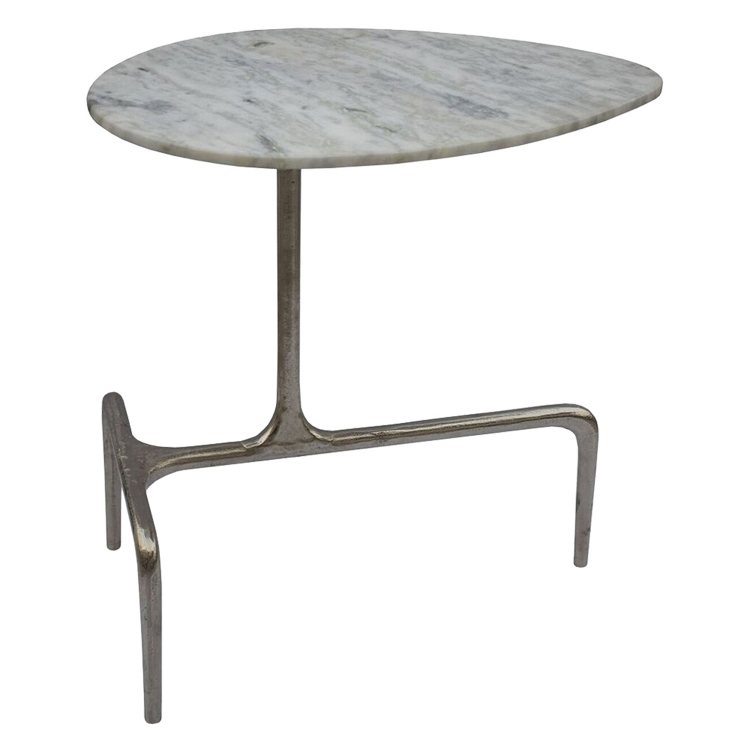 Elton Accent Table - Raw Nickel