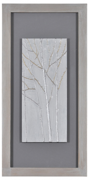 Silver Forests I Framed Painting - Ren-Wil