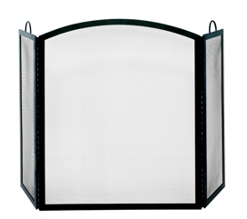 3 Fold Black Wrought Iron Medium Screen-Uniflame