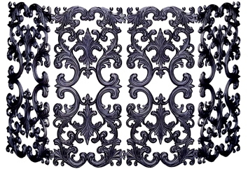 4 Fold Bronze Cast Aluminum Screen-Uniflame