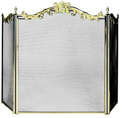 3 Fold Cast Solid Brass Screen-Uniflame