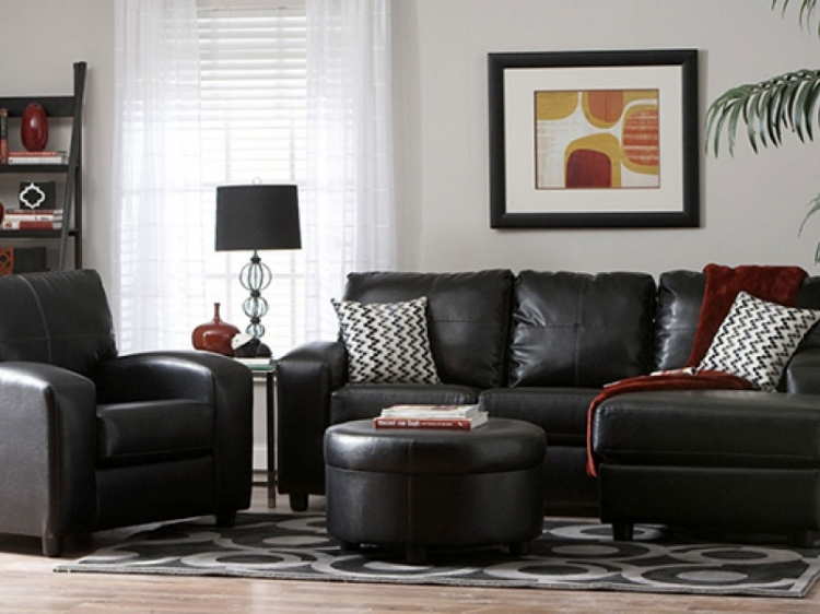 Rona Sectional Sofa Set - San Marino Ebony - Seven Devils