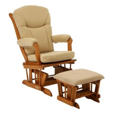 Smooth Glider Rocker and Ottoman-Shermag