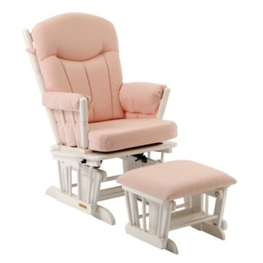 Plush Glider Rocker and Ottoman-Shermag