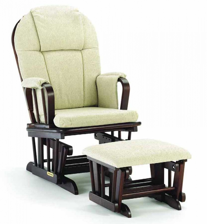 Classic Glider Rocker and Ottoman