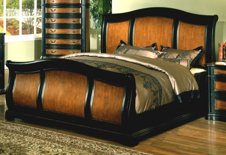 Lafayette Sleigh Bed with Rails