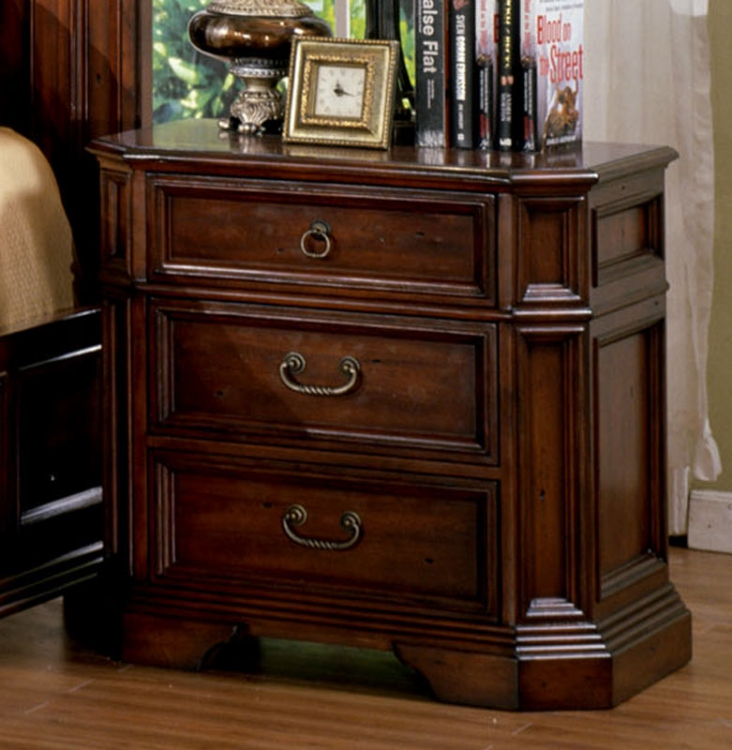 Angela Night Stand - Antique Cherry