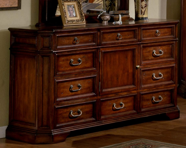 Angela Triple Dresser - Antique Cherry