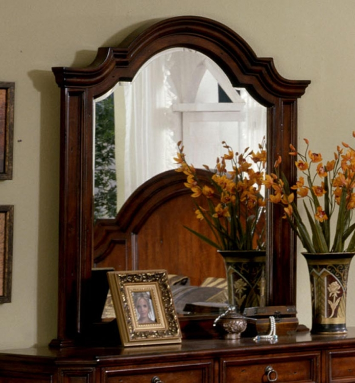 Angela Landscape Mirror - Antique Cherry