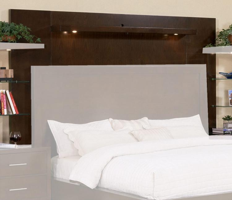Signature Home Contempo Bed Back Panel - Espresso