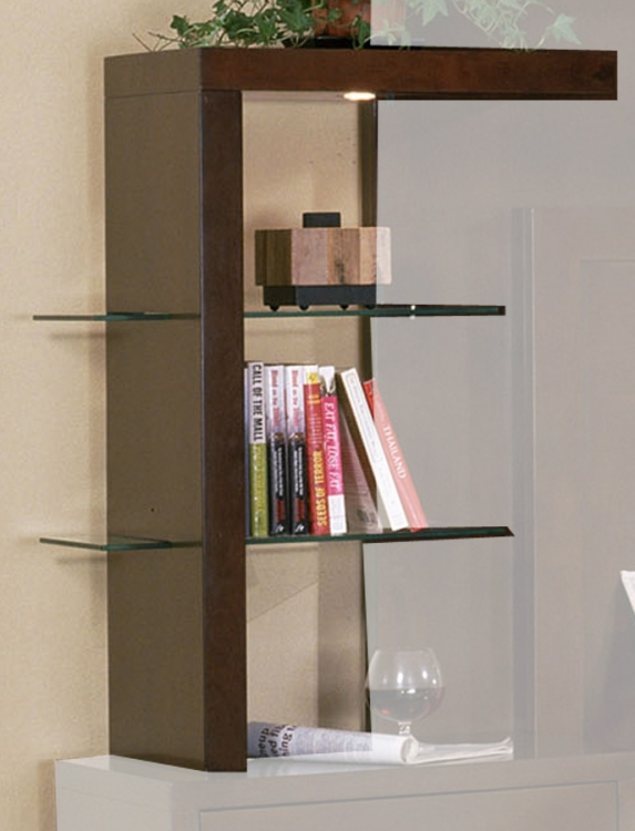Signature Home Contempo Glass and Wood Shelves - Espresso