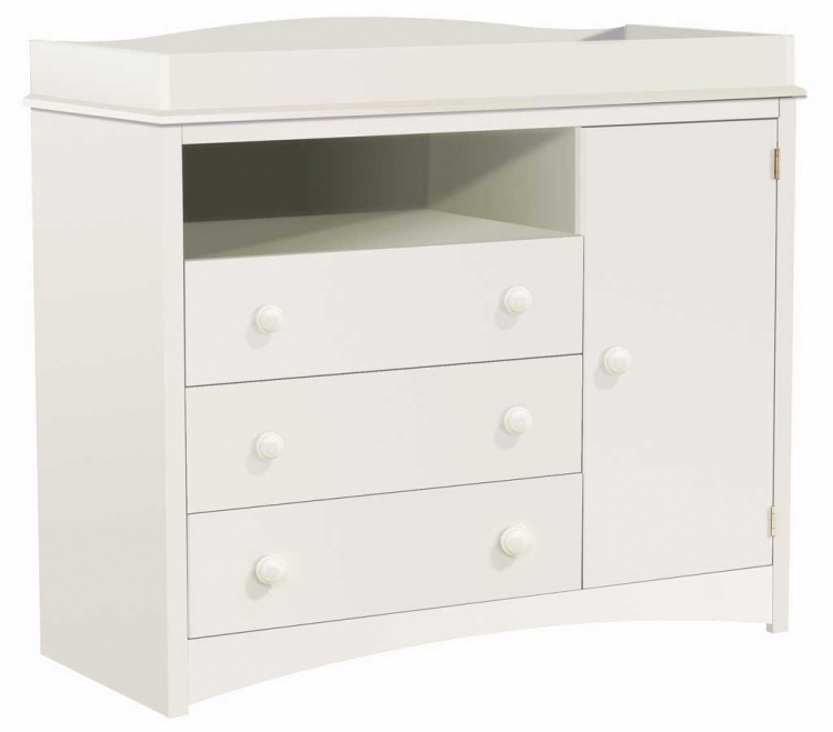 Contemporary Baby Furniture Pure White Changing Table - South Shore