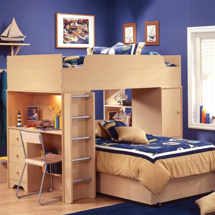 Popular Natural Maple Kids Loft Bedroom Collection - South Shore