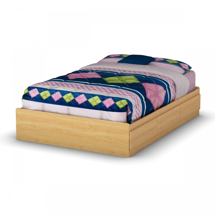 Popular Full Mates Bed - Natural Maple