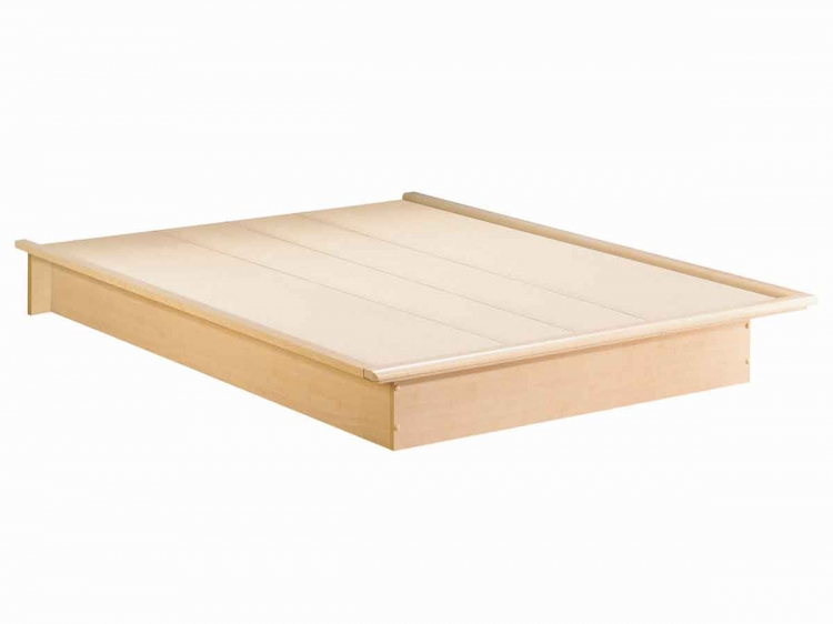 Contemporary Natural Maple Platform Bed