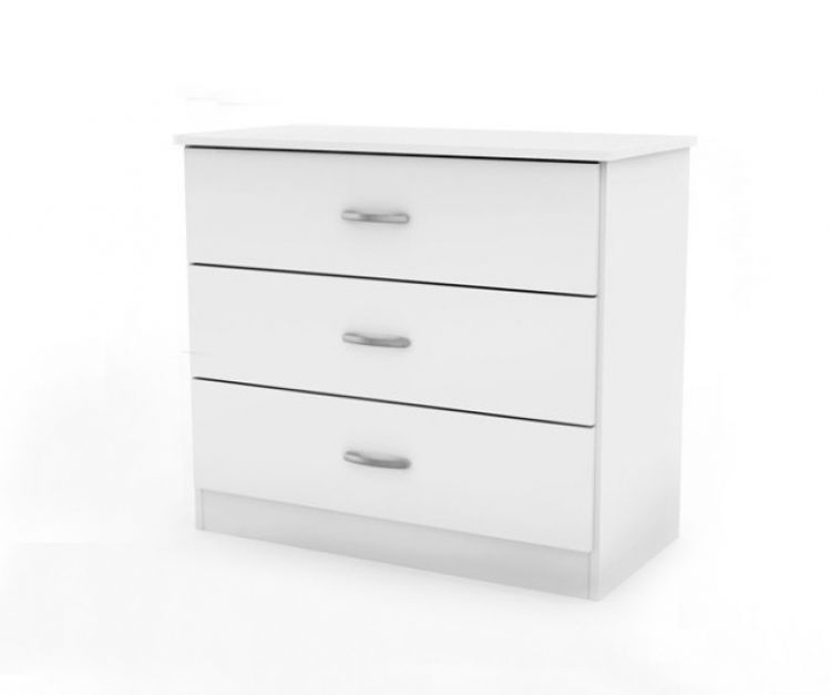 Smart Basics Pure White 3 Drawer Chest