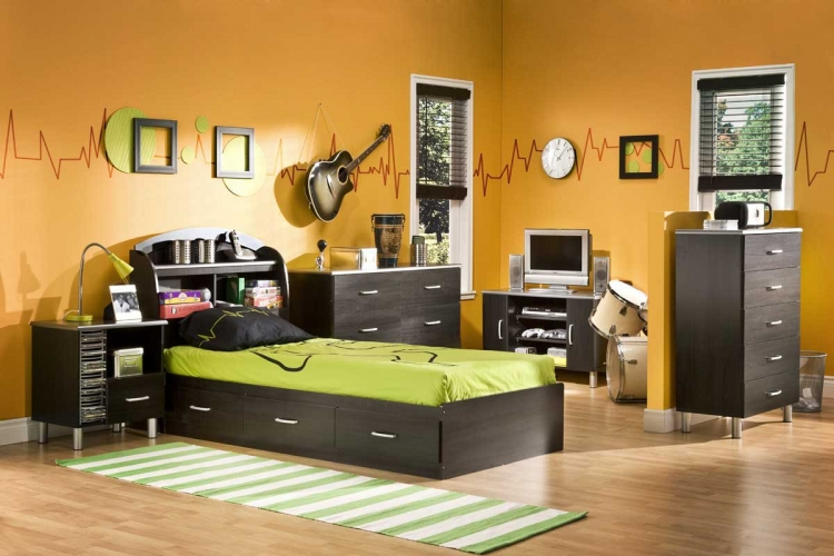 Cosmos Black Onyx and Charcoal Kids Bedroom Collection