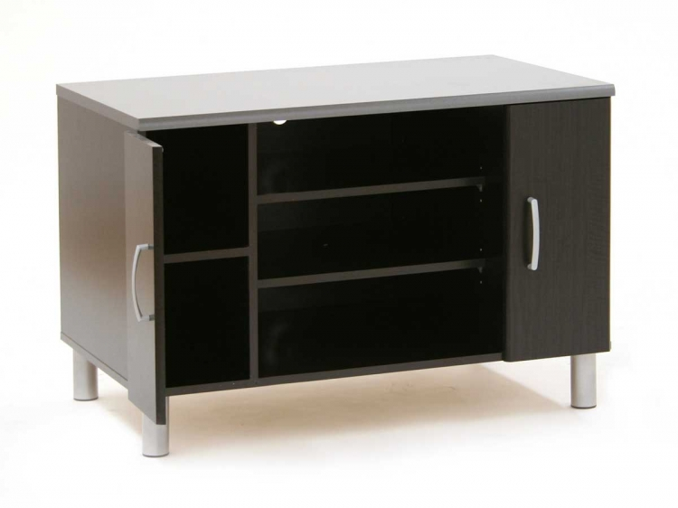 Cosmos Black Onyx and Charcoal TV Stand