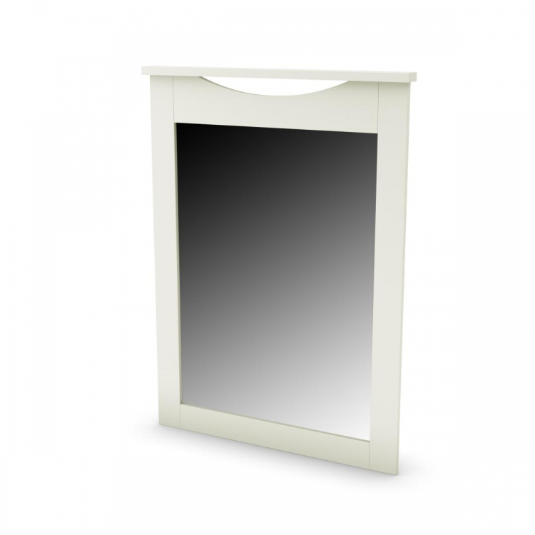 Step One Mirror 30 Inch x 41 Inch - Pure White - South Shore