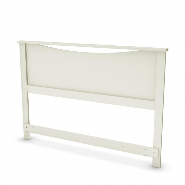 Step One Full - Queen Headboard - Pure White - South Shore